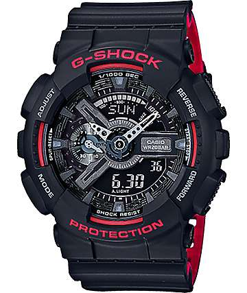 G-Shock GA110HR-1A Layer Band Black & Red Watch