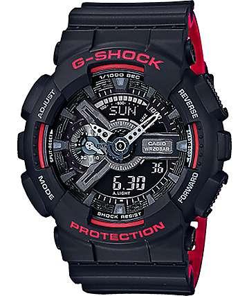 G-Shock GA110HR-1A reloj en rojo y negro