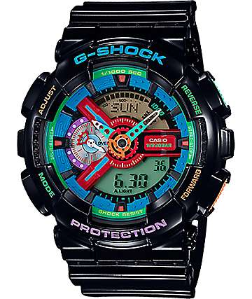 G-Shock GA110MC Rainbow & Black Digital & Analog Watch