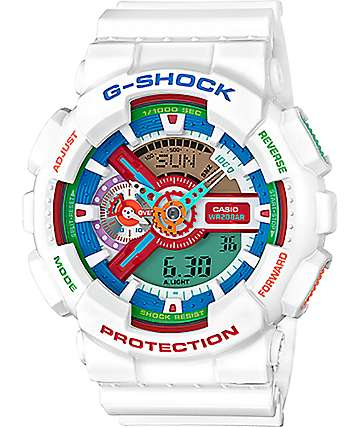 G-Shock GA110MC Rainbow & White Digital & Analog Watch