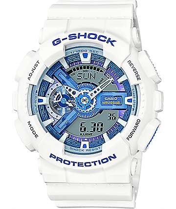 G-Shock GA110WB-7A White & Blue Watch