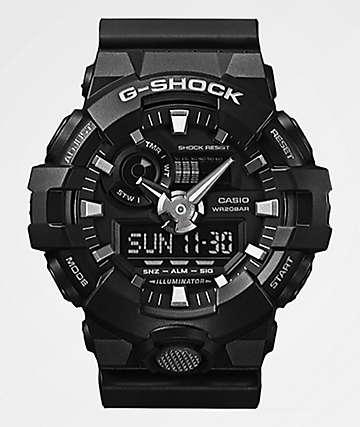G-Shock GA700-1B Front Button reloj negro