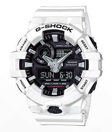 G-Shock GA700-7A White & Black Watch