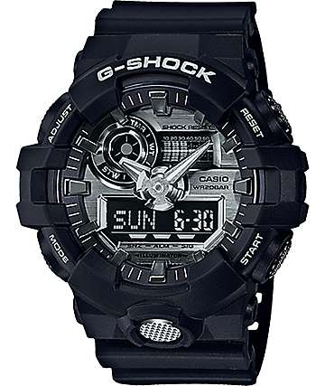 G-Shock GA710-1A Garish Matte Black & White Watch