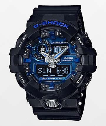 G-Shock GA710-1A2 Garish Matte reloj en negro y azul