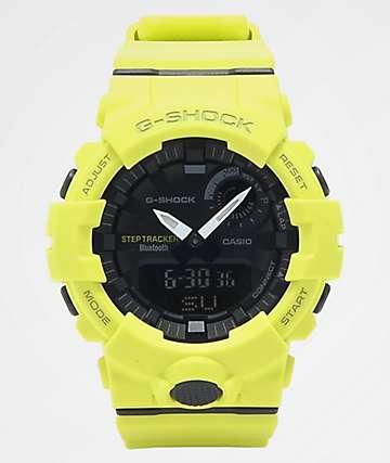 G-Shock GBA-800 Neon Yellow & Black Watch