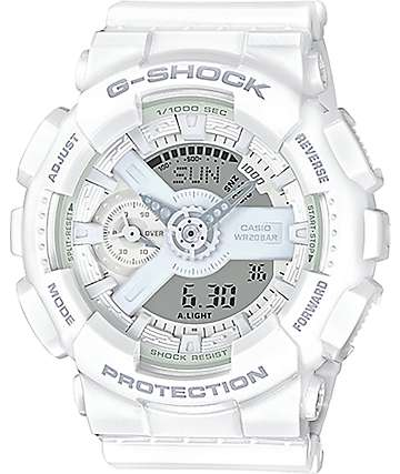 G-Shock GMAS 110CM-7A1 Military All White Watch