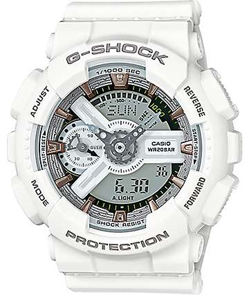 G-Shock GMAS 110CM-7A2 Military White & Silver Watch