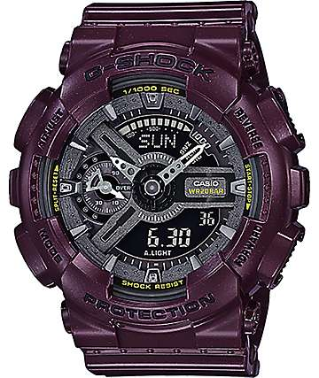 G-Shock GMAS110MC-6A Dark Burgundy Metallic Digital & Analog Watch