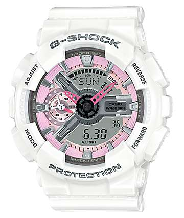 G-Shock GMAS110MP-7A White & Pink Watch