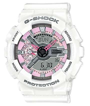 G-Shock GMAS110MP-7A White & Pink Watch