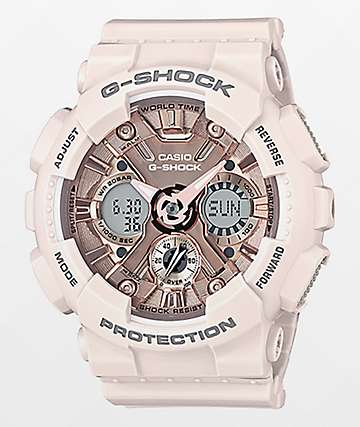 G-Shock GMAS120MF-7A2P Light Pink & Gold Watch