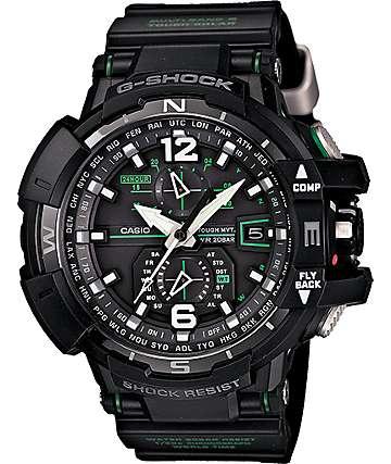 G-Shock GWA1100-1A3 Aviation Black Watch