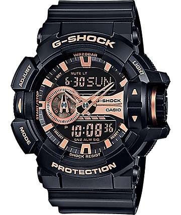G-Shock Garish GA-400GB-1A4 Black & Rose Gold Watch