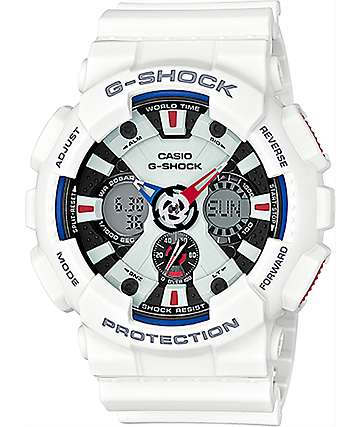 G-Shock Tricolor GA120TR-7A White, Red & Blue Watch