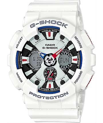 G-Shock Tricolor GA120TR-7A reloj blanco, rojo y azul