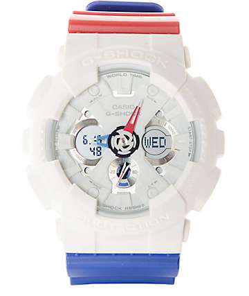 G-Shock Tricolor GA120TRM-7A Red, White, & Blue Watch