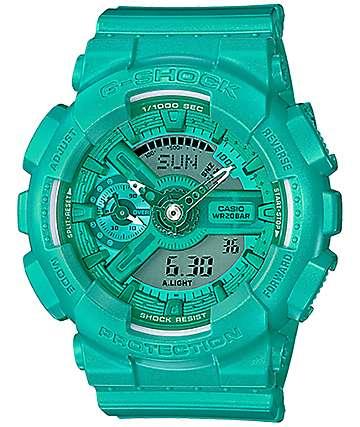 G-Shock Vivid Color GMAS110VC-3A reloj digital en verde azulado