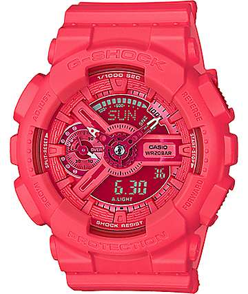 G-Shock Vivid Color GMAS110VC-4A reloj digital en color coral