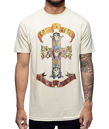 GNR Cross Destruction Natural T-Shirt