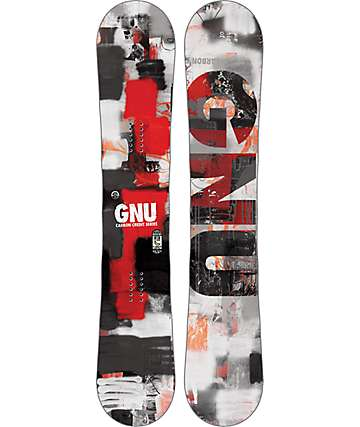GNU Carbon Credit 162cm Wide Snowboard