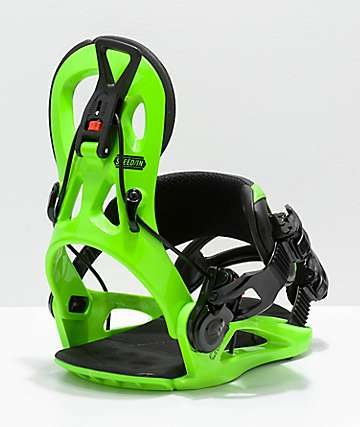 GNU Cheeter Green Snowboard Bindings