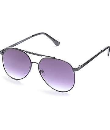 Gafas de sol aviador en negro