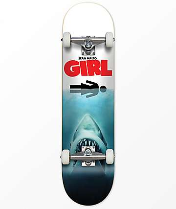 "Girl Malto Shark Attack 7.6"" Skateboard Complete"