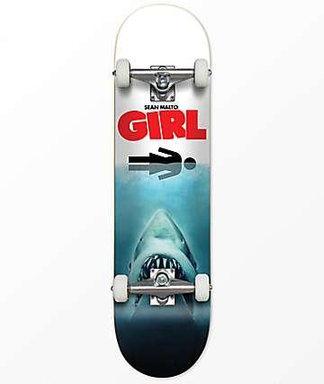 "Girl Malto Shark Attack 7.6"" Skateboard Complete"