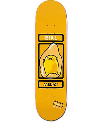 "Girl x Gudetama By Sanrio Malto 8.12""  Skateboard Deck"