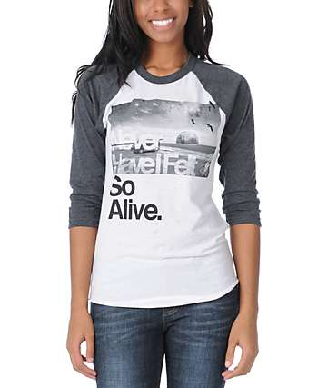 Glamour Kills Hunting To Feel Charcoal Baseball Tee