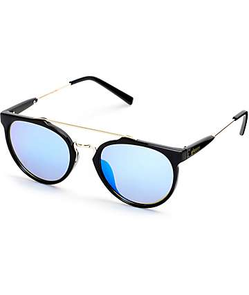 Glassy Chuck Black & Gold Sunglasses