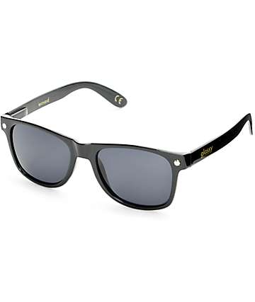 Glassy Leonard Black Polarized Sunglasses