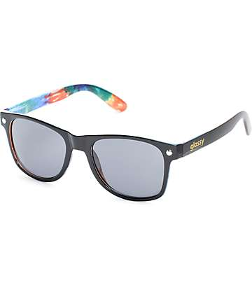 Glassy Leonard Black Tie Dye Sunglasses