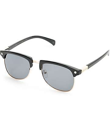 Glassy Marty Black & Gold Polarized Sunglasses