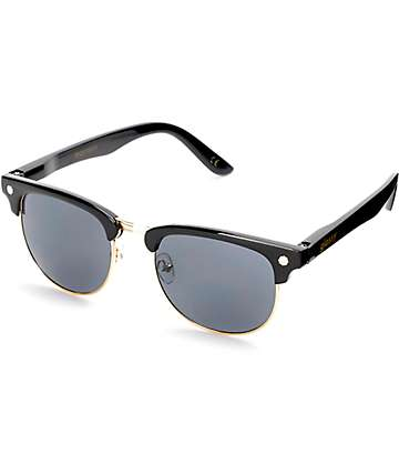 Glassy Morrison Black & Gold Sunglasses