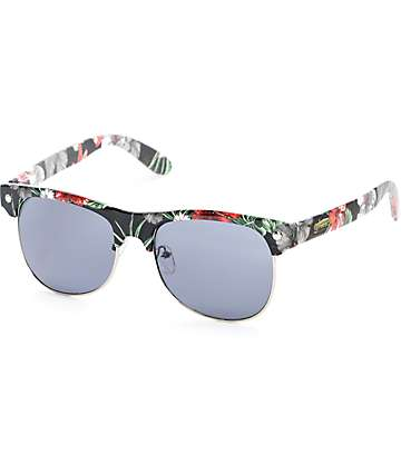 Glassy Shredder Black Floral Sunglasses