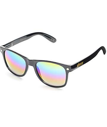 Glassy Sunhaters Leo Black & Colored Mirrored Sunglasses