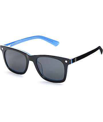 Glassy Sunhaters MikeMo Black & Blue Sunglasses