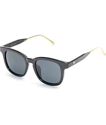 Glassy Sunhaters Royal Black & Gold Sunglasses