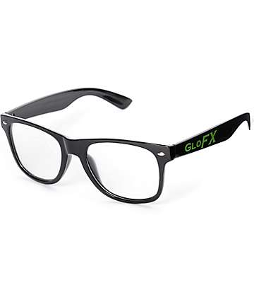 GloFX Black Diffraction Glasses