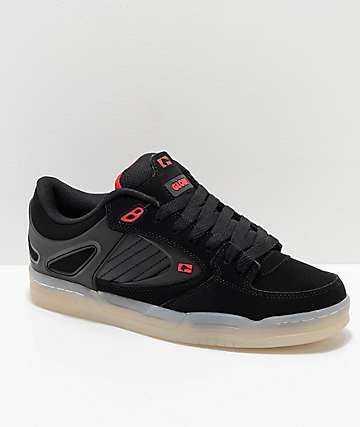 Globe Agent Black, White & Red Skate Shoes