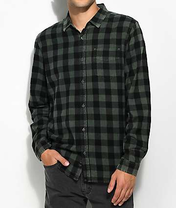 Globe Barkly Vintage Green Flannel Shirt