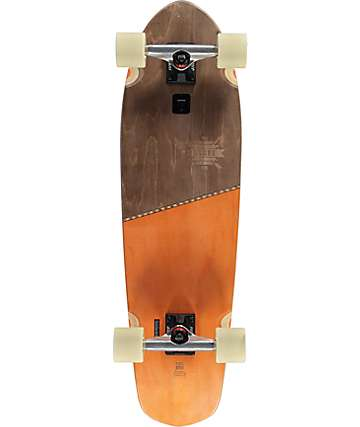 "Globe Big Blazer Brown & Orange 32"" Cruiser Complete Skateboard"