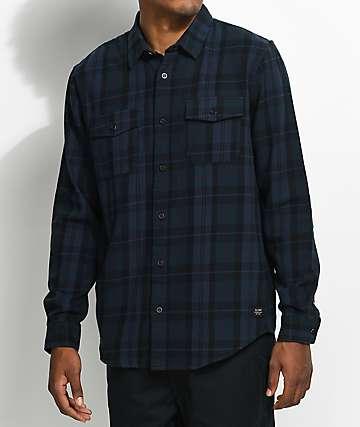Globe Flanigan camisa de franela en azul marino y negro