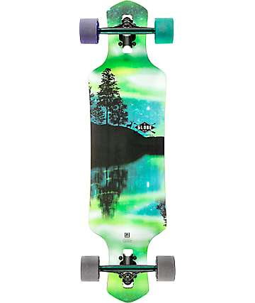"Globe Geminon Aurora 35"" drop through longboard completo"