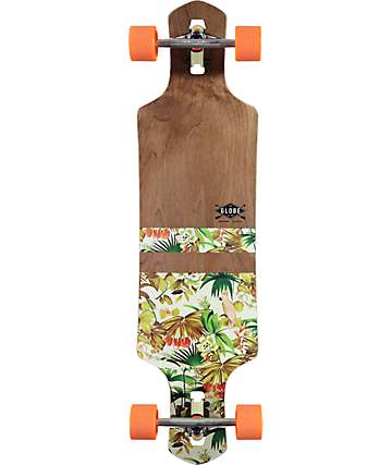 "Globe Geminon Jungle 38.5"" Drop Through Longboard Complete"