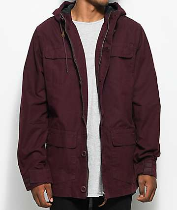Globe Goodstock IV Burgundy Parka Jacket