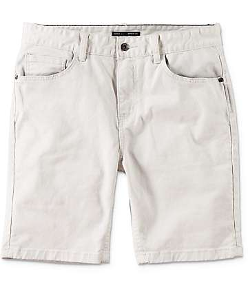 Globe Goodstock Off White Denim Shorts