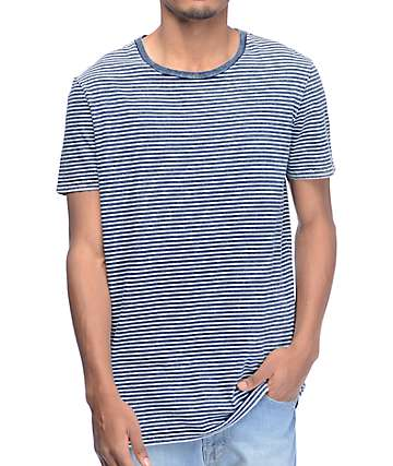 Globe Indigo Washed Stripe T-Shirt